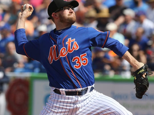Jacob Rhame pitches a scoreless third innings for the Mets. The Mets played their first game of the exhibition season.