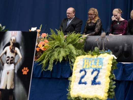 Lauren Hill's family attend her memorial service at