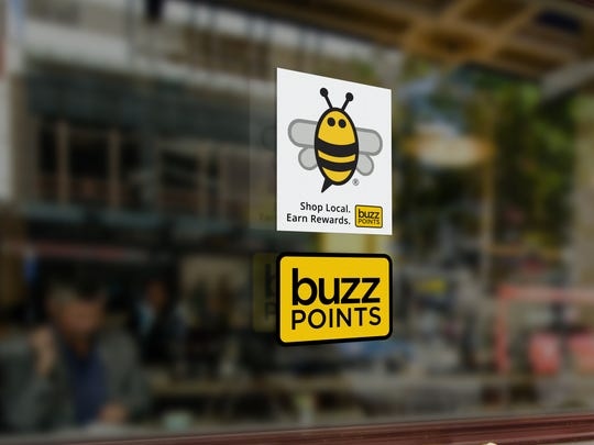 El Paso area merchants in the Buzz Points loyalty rewards program can display stickers to alert customers that they are in the Austin company's points network, which is being offered in El Paso through evolve Federal Credit Union.