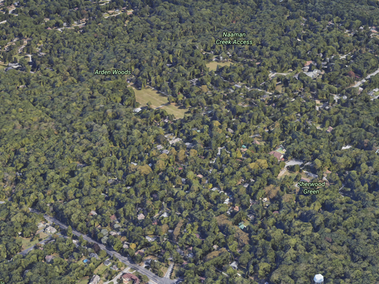 Aerial view of Arden, Delaware.