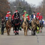 Rescued horses bring holiday cheer to Fox Crossing residents