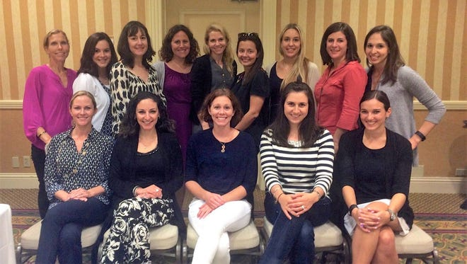 JWF YOUNG LEADERS SOCIETY - JWF Trustee Lauren Stuhmer (back row, second from right) and JWF Board of Directors Vice President Alana Faintuch (front, right), are co-chairing JWF's Young Leaders Society. The co-chairs are pictured with the first Young Leaders Society group in September 2015. The program is open to women living or working in Palm Beach County, who are age 45 or younger, and offers leadership training, networking and mentorship. Applications are available online now through Jan. 12.