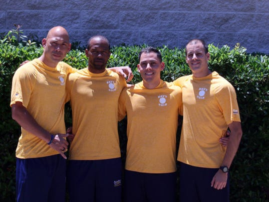Navy Volleyball Players save two lives