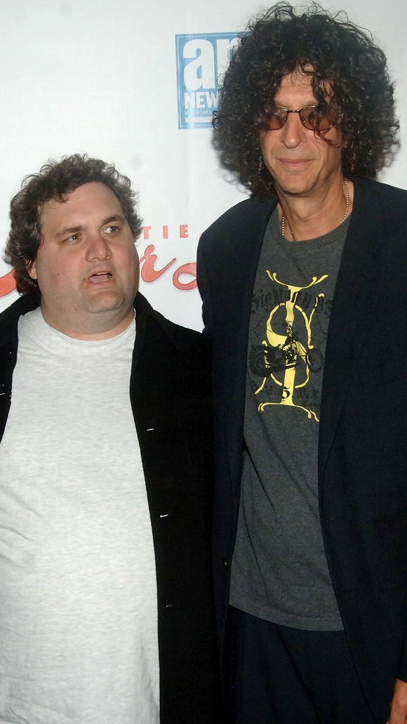 "Artie Lange and Howard Stern arrive at the world premiere of ""Artie Lange's Beer League"" in 2006 in New York."