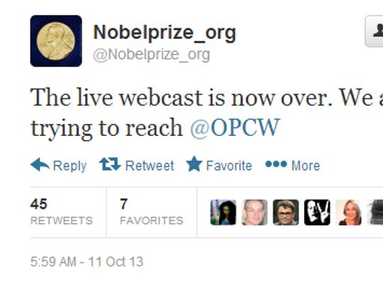 Twitter Nobel 2
