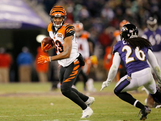 Cincinnati Bengals wide receiver Tyler Boyd (83) makes