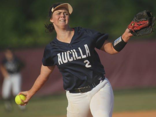 Aucilla Christian's Abigail Morgan pitches against