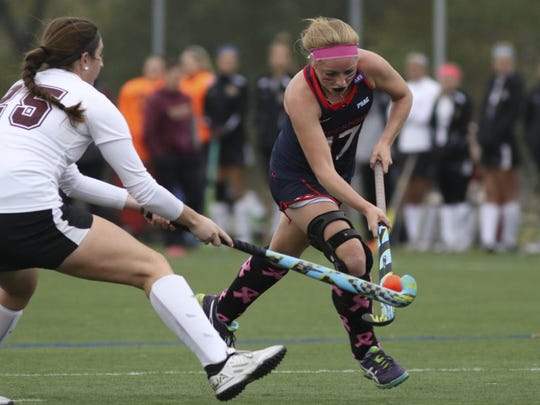 Shippensburg University's Emily Barnard scored the opening goal for the Raiders in the NCAA Division II National Championship game against LIU Post. Shippensburg won 2-1 to claim its second national title since 2013.