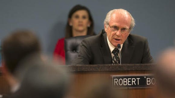 Corporation Commissioner Bob Burns is in fourtj place for three seats, according to a new poll