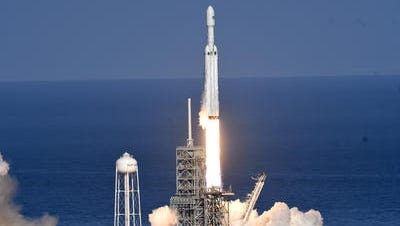 SpaceX's newest rocket, the Falcon Heavy lifts off on it first demonstration flight last Tuesday.