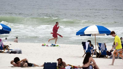 Sunny weather expected today. Yellow flags are flying at Pensacola Beach and red flags at Navarre Beach.