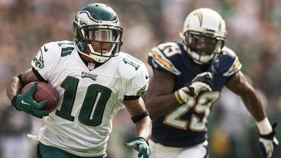 DeSean Jackson had 82 receptions for 1,332 yards last season. The Eagles released him in March.