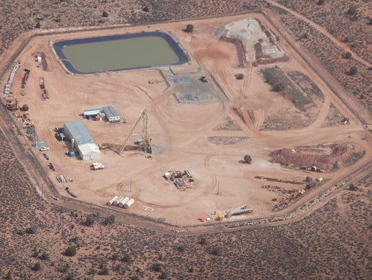 This uranium mine, photographed in 2011, is located
