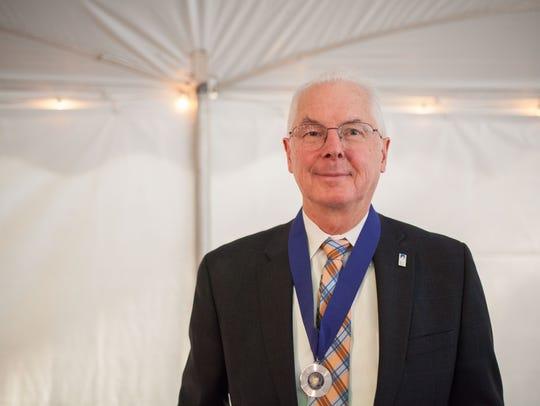 SUNY New Paltz President Donald P. Christian poses