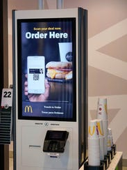McDonald's has touchscreen ordering kiosks at its Green