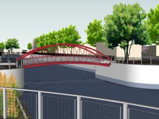 A rendering of the canal walk proposed for Broad Ripple.