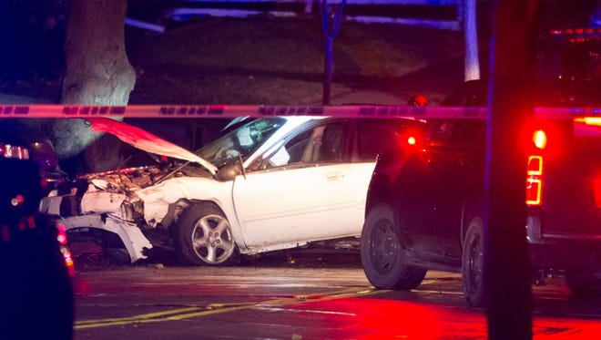 A police chase which started after an armed robbery ended in a crash  in the 2000 block of 68th Street in Wauwatosa.