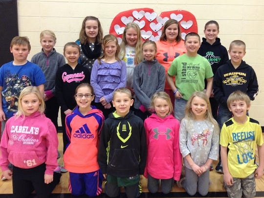 The top pledgers this year were, back row, from left: Rowan Harder, Olivia Kain, Katelyn Pollock, Kailey Schulz and Payton Harder. Second row, from left: Brock Henken, Graycie VandeBerg, Olivia Lese, Madalyn Kuhfuss, Casey Flier and Charlie Flier. Front row, from left: Lily Devries, Kylie Pluim, Colten Pluim, Natalie Maas, Reese Pollock and Aiden Nummerdor. Missing was Trinity Pearce.