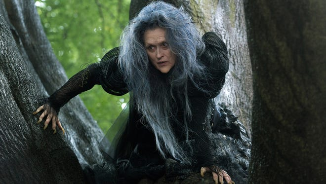 "Meryl Streep appears in a scene from ""Into the Woods."""