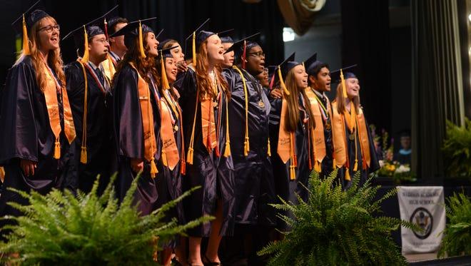 Madison Academic Magnet High School graduation. -5/19/15