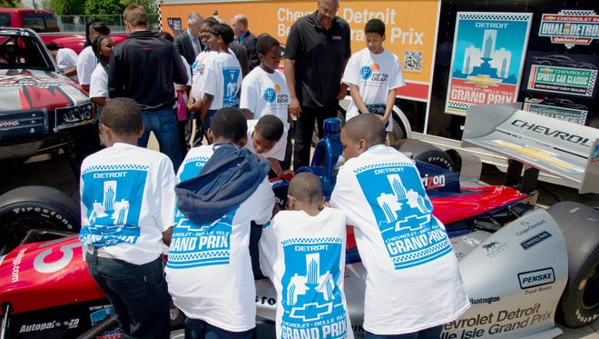 Former Detroit Piston center Earl Cureton says learning through sporting events like the Grand Prix can help kids apply the lessons to real-world jobs.