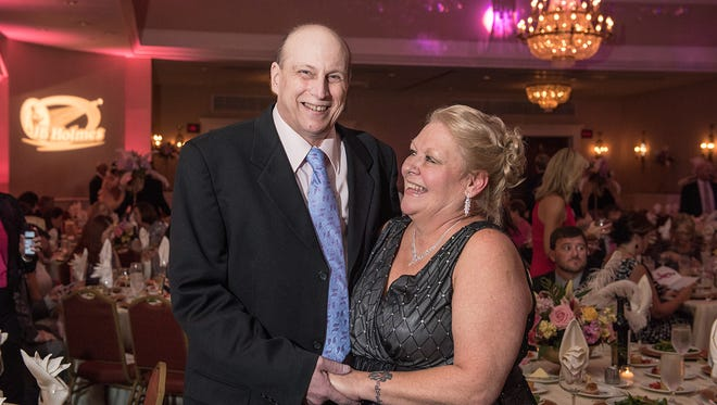 Hugh and Kim Campbell attend September's 11th Annual Pink Tie Ball at the Seelbach Hilton Hotel. Hugh Campbell was diagnosed with breast cancer in 2007.
