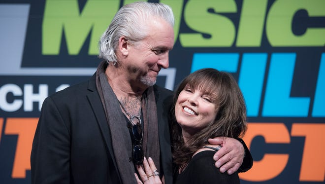 March 16, 2016 -- Austin, TX, U.S.A  -- Pat Benatar and Neil Giraldo held a wide-ranging conversation on their musical lives and long-lasting marriage at the 30th annual SXSW musical festival.    Photo by Jasper Colt, USA TODAY Staff.