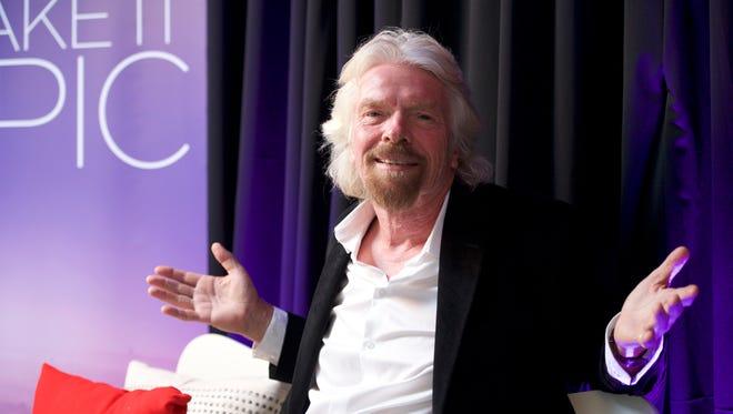 Sir Richard Branson of Virgin Atlantic and Virgin Group.
