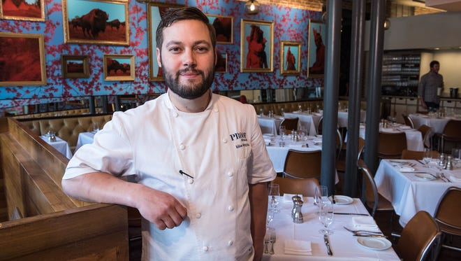 Mike Wajda, executive chef at Proof on Main in 21c Museum Hotel downtown at 702 W. Main Street. April 29, 2016
