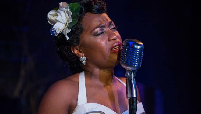 """Citing the pandemic, Milwaukee Repertory Theater has postponed """"Ella Fitzgerald: First Lady of Song"""" with Alexis J. Roston to late April. Roston is shown here in a past production of """"Lady Day at Emerson's Bar & Grill."""""""