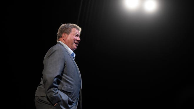 Actor William Shatner speaks during the Smithsonian Magazine's 2016 Future Is Here Festival at The National Press Club in Sidney Harman Hall at the Shakespeare Theatre on April 22, 2016 in Washington, DC.