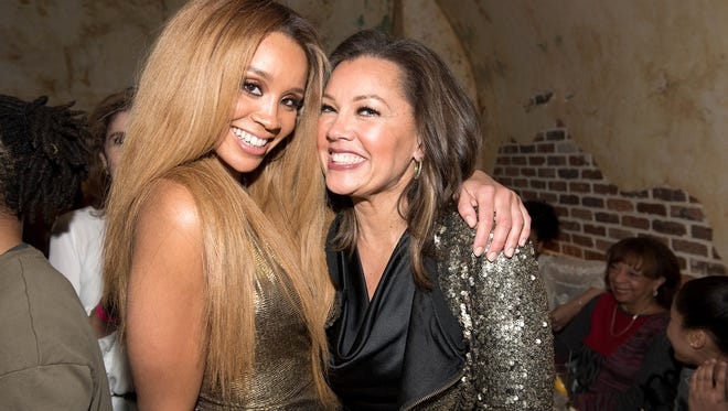 """Singer Jillian Hervey of Lion Babe and her mom, actress Vanessa Williams, attend the Lion Babe """"Begin"""" Listening Party at The Roxy Hotel on February 2, 2016 in New York City."""