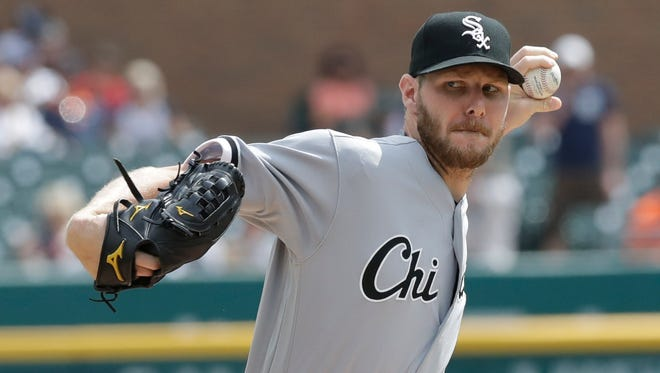 According to a report, the Red Sox have acquired White Sox pitcher Chris Sale in a trade. (AP Photo/Carlos Osorio)