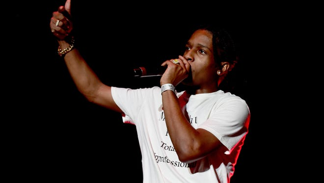 ASAP Rocky performs onstage during day 1 of the 2016 Coachella Valley Music & Arts Festival.
