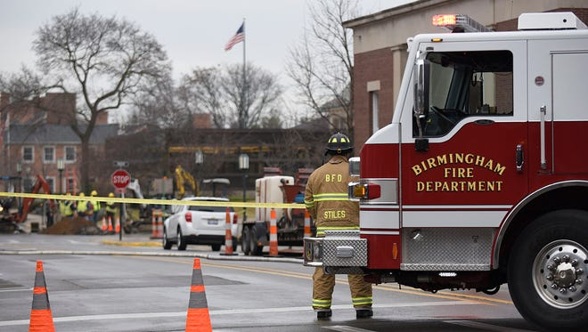 Several blocks of downtown Birmingham were evacuated Tuesday after a gas main break was reported in the area.