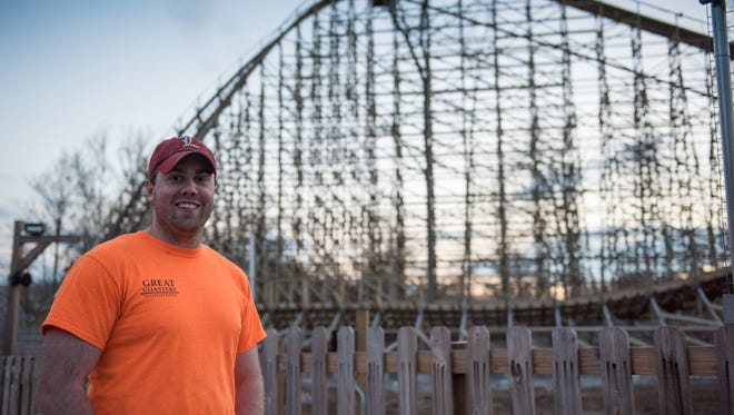 Adam House designed the new Mystic Timbers roller coaster at Kings Island.