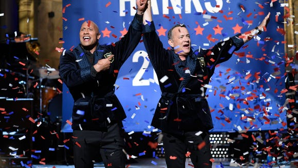 Dwayne Johnson and Tom Hanks decide they're running