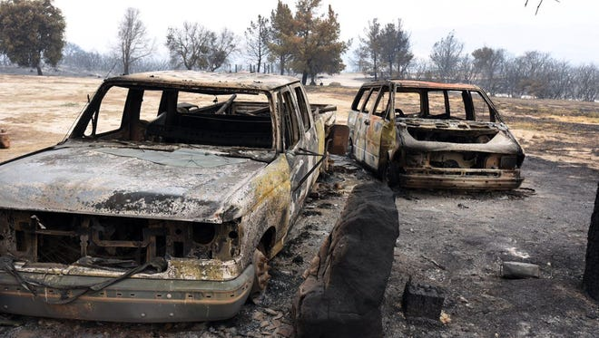 Rancho Alegre Outdoor School, a camp which suffered extensive damage from the Whittier fire near Santa Barbara, Calif., Monday, July 7, 2017.