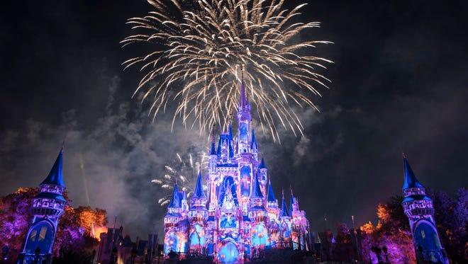 "Walt Disney World's ""Happily Ever After"" at Magic Kingdom Park."