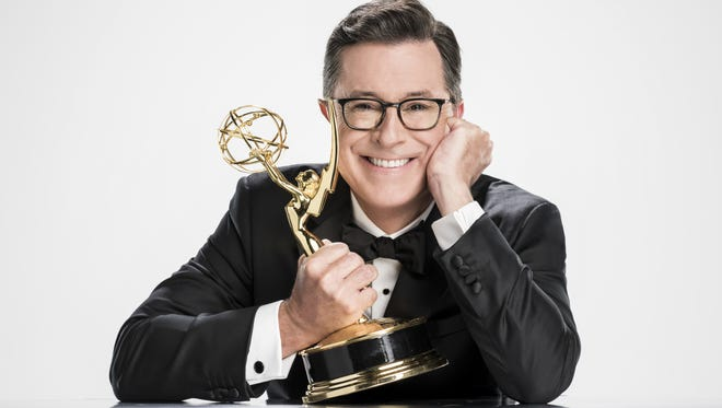 Stephen Colbert is the 2017 Emmy host.