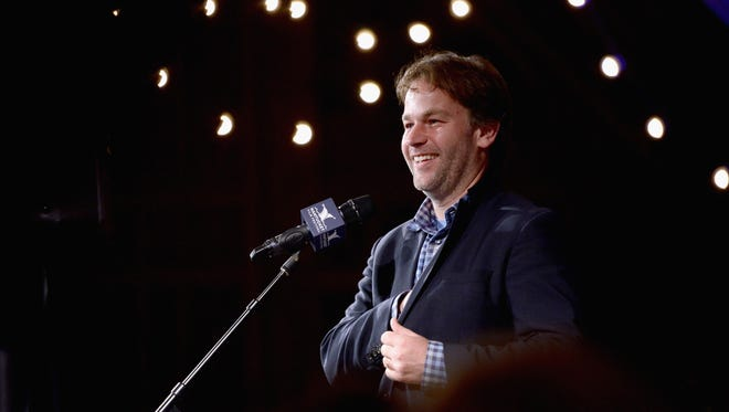 """Mike Birbiglia speaks onstage at """"Late Night Letters"""" during the 2017 Nantucket Film Festival in Massachusetts."""