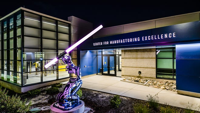 Lansing Community College unveiled its new Center for Manufacturing Excellence Oct. 4, 2017. The center is an addition to the college's West Campus.