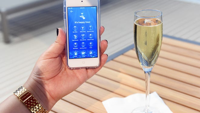 A new Royal Caribbean app will let passengers order food and drink that will be delivered to them  anywhere they are on a ship.