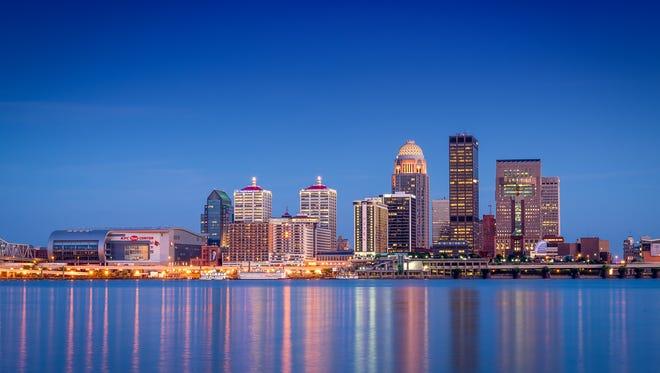 Louisville skyline.
