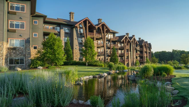 Guests at Crystal Springs Resort have a choice of two hotels, each unique and providing year-round accommodations. Pictured is the Grand Cascades Lodge.