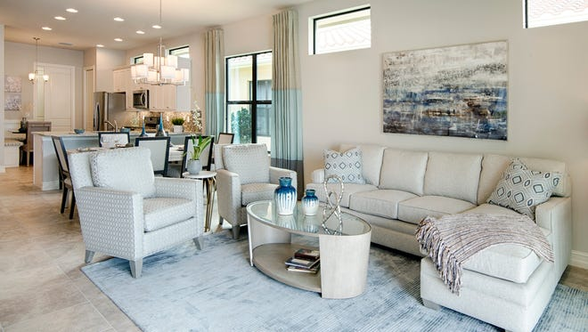 Zuckerman Homes' Venetian Pointe community has four furnished models including the two-bedroom plus study Amalfi.
