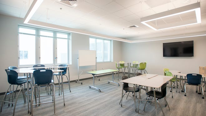 A standard classroom at the new Beulah Middle School in Pensacola on Tuesday, June 19, 2018.  The school is scheduled to be opened at the start of the upcoming school year.