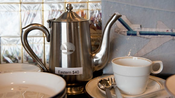 Eastern Air Lines is one of the USA's most iconic airline brands. The carrier went bust in 1991, but fans can keep its memory alive with this vintage Eastern-branded tea pot that was on sale at a memorabilia show in Virginia.