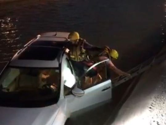 Senior rescued from Paradise Valley canal