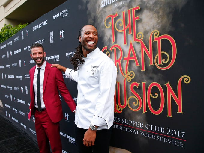 Illusionist Darcy Oake and Cardinals receiver Larry
